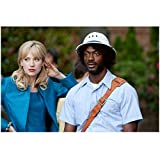 Leverage (2008 - 2012) 8x10 Inch Photo Aldis Hodge in Pith Helmet w/Beth Riesgraf in Blue Suit kn