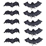 Set of 10 Halloween Décor Realistic Looking Spooky Hanging Bats for Best Halloween Party Favors and Decoration