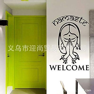 JXFFF Fe Creativa y patrón de Bienvenida Cruzada Pegatinas de Pared decoración del hogar Dormitorio Sala de Estar autoadhesiva 57 * 78 cm: Amazon.es: Hogar