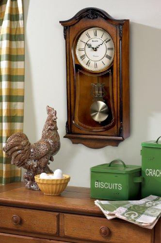 Bulova C3542 Cranbrook Old World Clock, Walnut Finish by Bulova