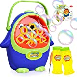 Bubble Machine - Automatic Bubble Blower with Bubble Solution for Kids Toddlers, Portable Bubble Maker with Bubbles…