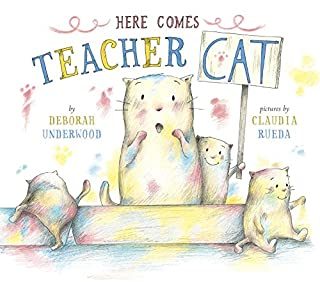 Book Cover: Here Comes Teacher Cat