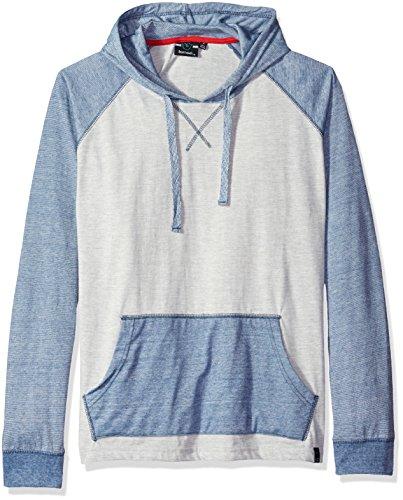 Burnside Men's Boardwalk Long Sleeve Knit Hooded Shirt, Light Grey, Medium ()