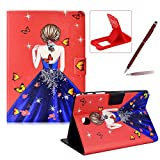 Herzzer Wallet Folio Case for Galaxy Tab A 8.0 T350,Bookstyle Flip Pu Leather Case for Galaxy Tab A 8.0 T350, Stylish Pretty Butterfly Princess Printed Stand Leather Case with Soft TPU Inner