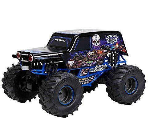 Rc Toys-Monster Trucks-Premium New Bright1:10 Full-Function 9.6V Monster Jam Sonuva Digger R/C Car, Black --Guarenteed