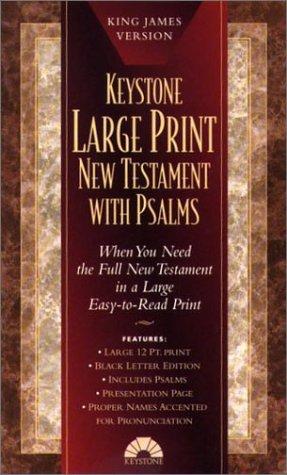 Large Print New Testament with Psalms - 24 copy carton: King James Version