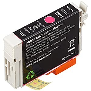 AmazonBasics Remanufactured Ink Cartridge Replacement for Epson T071 6