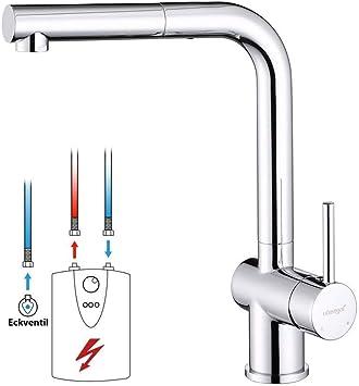 Design Spültischarmatur Einhebelmischer Niederdruck Armatur Wasserhahn  Brause