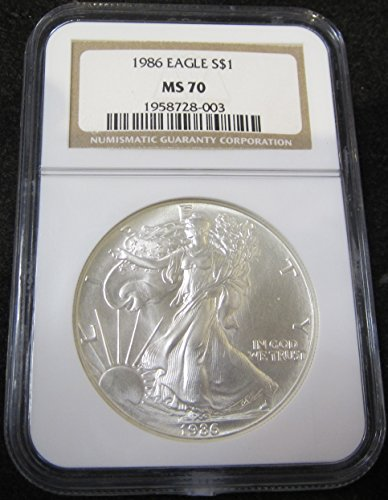 1986 Silver Eagle $1 MS70 NGC