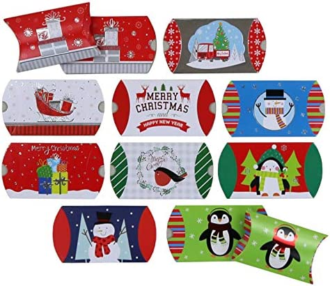 Christmas Pillow Boxes 50 Count Iconikal product image