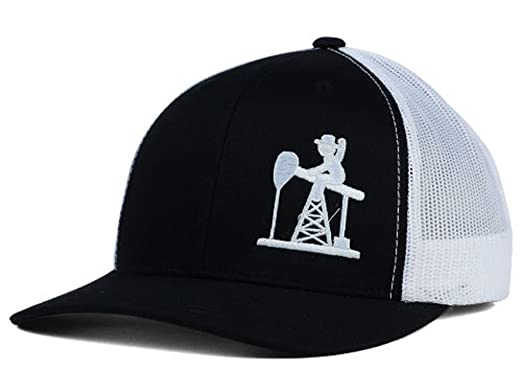 05f1adfaed826a Pumpjack Cowboy Black/White Trucker, Mesh Hat, OSHA at Amazon Men's ...