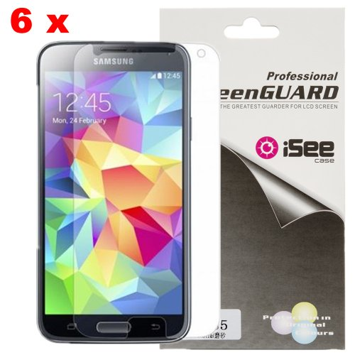 Cheap Cases Galaxy S5 Screen Protector, iSee Case (TM) 6 x Anti-Glare Matte Finish..