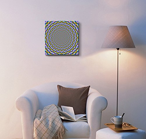 Holographic Optical Illusion Spiral Rainbow Wall Decor