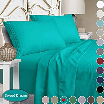 Mejoroom Bed Sheets Set,Extra Soft Luxury King Size Sheets with 15-inch Deep Pocket,Premium Bedding Collection - Breathable Wrinkle Fade Stain Resistant Hypoallergenic - 4 Piece (King,Teal)