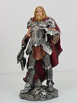 13.5 Inch Odin Warrior God Mythological Norse Statue Figurine
