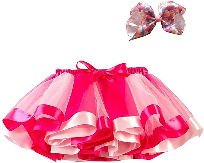 CyFe - Faldas de tul arcoíris para bebé, tutú, tocado de tutú ...