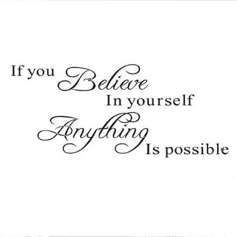AIMTOPPY Believe Anything is Possible Inspirational Wall Sticker Decals DIY BK by AIMTOPPY (Image #2)