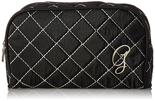 Kate Aspen Cosmetic Couture Quilted Monogrammed Make-Up Bag, Letter G -