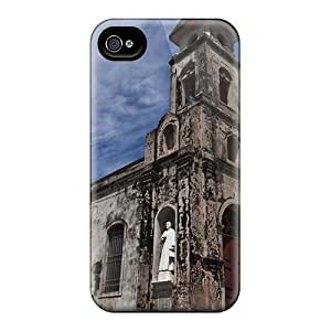 4/4s Scratch-proof Protection Case Cover For Iphone/ Hot The Church Of Guadeloupe Phone Case