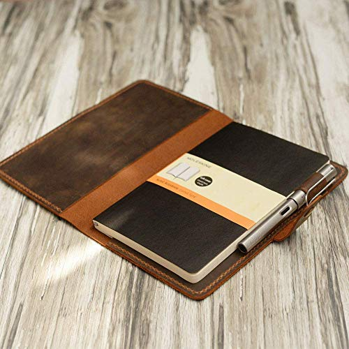 Distressed Leather Moleskine Classic Cover Larger size,5 x 8.25