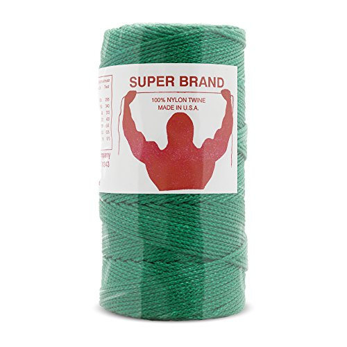 Nylon Braided Twine (Green Nylon Twine, Braided. Size #18, 1/4 lb 1-pack)