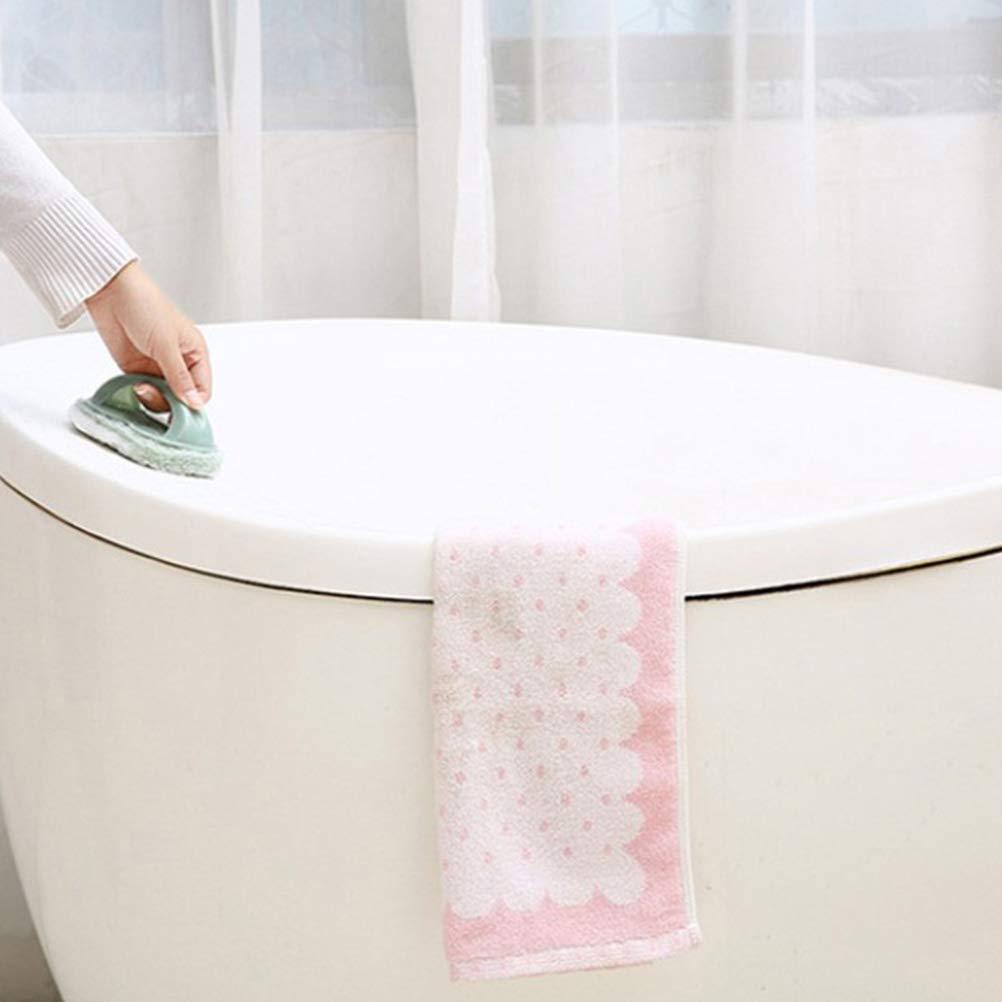TOPBATHY Tampon /à r/écurer avec brosse /à r/écurer pour lave-vitres de baignoire