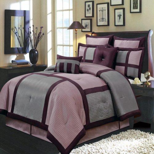 Blancho Bedding Morgan Purple Luxury 8-Piece Comforter Set King Size from Blancho Bedding