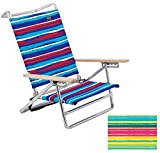 5 Position the Classic Bright Colors High Back Beach Chair Pkg/1