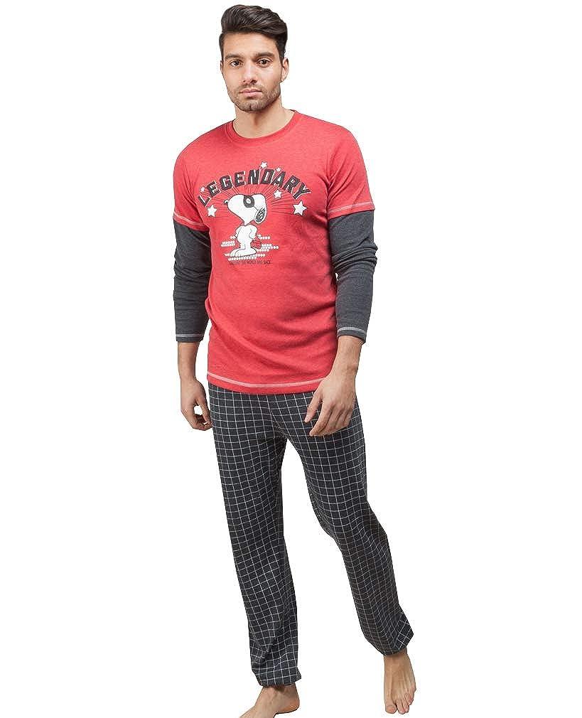 GISELA Pijama de Invierno para Hombre de Snoopy: Amazon.es: Ropa y accesorios