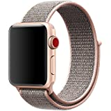 BEA FASHION For Apple Watch Band 38mm 42mm Soft Breathable Woven Nylon Replacement Sport Loop Band for Apple Watch Series 3 Series 2 Series 1