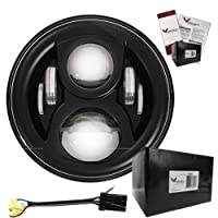"Eagle Lights Generation II 7"" Round LED Headlight with 2014+ Adapter Wire"
