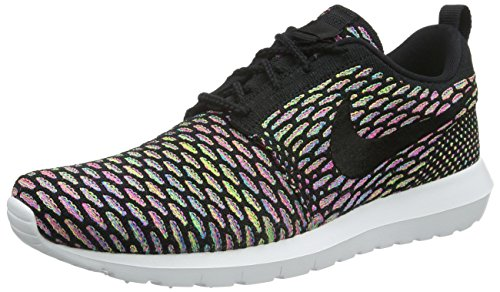 NIKE Men's Roshe NM Flyknit SE Running Shoe Black Pink Power Blue Glow 013 sale clearance clearance low cost lowest price cheap sale 2014 collections NdyYZKq10s