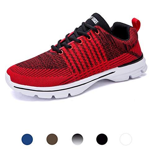 Mesily E Antiscivolo Donna Da Outdoor Rosso Running Sneakers Shoes Fitness Nero Sport Lo Ginnastica Gym Scarpe Per 2018 qIwarxFIp