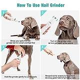 WWVVPET Pet Nail Grinder, More Powerful Dog Nail