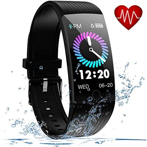 Lintelek Fitness Activity Tracker HR, Fit Watch Sleep Monitor Pedometer Calorie Counter, Sport Watch Fitness Gifts for Men, Women, Kids