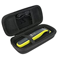 For Philips Norelco OneBlade hybrid electric trimmer shaver, QP2520/70 Hard Case Organizer Carrying Travel Bag Cover Storage by Khanka