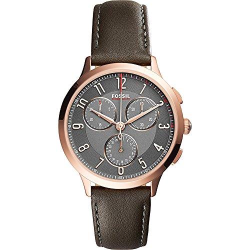 Fossil-Abilene-Multifunction-Leather-Watch