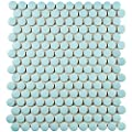 "SomerTile FXLMPML Retro Penni Matte Light Porcelain Floor and Wall Tile, 9.875"" x 11.5"", Blue from EliteTile"