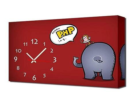 Orologi Da Parete In Tela : Home uk modern style tela pittura soggiorno cartoon orologio da