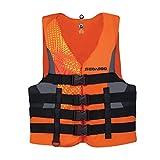 New BRP Sea-Doo Men's Nylon Motion PFD Life Vest Jacket-Adult X Large-Orange
