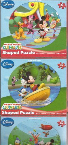 Mickey Mouse Clubhouse Puzzle Set of 3 (24 pieces (Mickey Mouse Clubhouse Puzzle)
