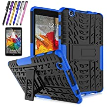 LG G Pad X 8.0 / G Pad III 8.0 Case, Mignova Hybrid Protection Cover Built-In Kickstand Skin Case For LG G Pad X 8.0 / LG GPad III 3 8.0 Inch Tablet + Screen Protector Film and Stylus Pen (Blue)
