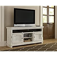 Progressive Furniture Willow 64 Console, Distressed White