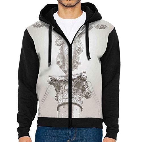 (3D Printed Hoodie Sweatshirts,Neoclassic Pillars Mythology Ancient,Hoodie Casual Pocket Sweatshirt)