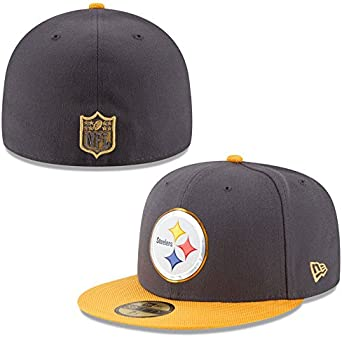 New Era Mens Pittsburgh Steelers 39Thirty 2015 On Field Hat Black//Yellow Size Medium//Large