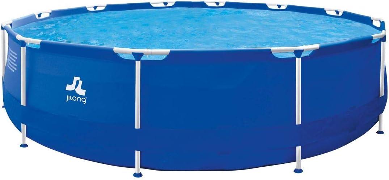 JILONG Sirocco Blue 420 – Marco de Acero Platillos, Redonda Pool ...