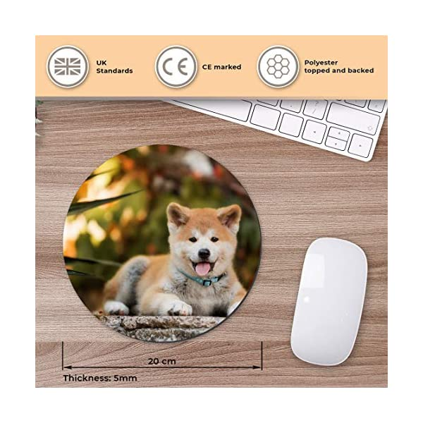 Round Mouse Mat - Japanese Akita Inu Puppy Dog Office Gift - RM15710 2