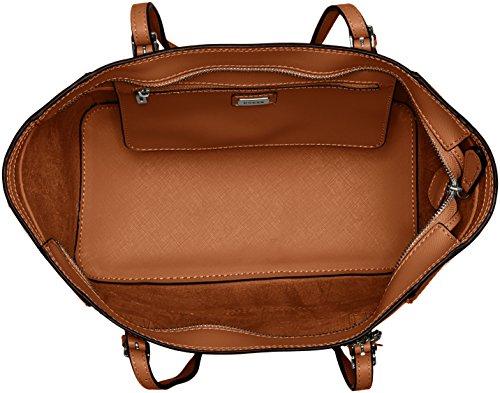 GUESS, Damen Handtaschen, Schultertaschen, Shopper, Cognac, 40 x 25 x 14 cm (B x H x T)