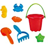 Lightahead Beach Bucket Toys Playset for Kids with 7 pcs accessories Children Beach Sand Toys Set Great Holiday Gift for Kids