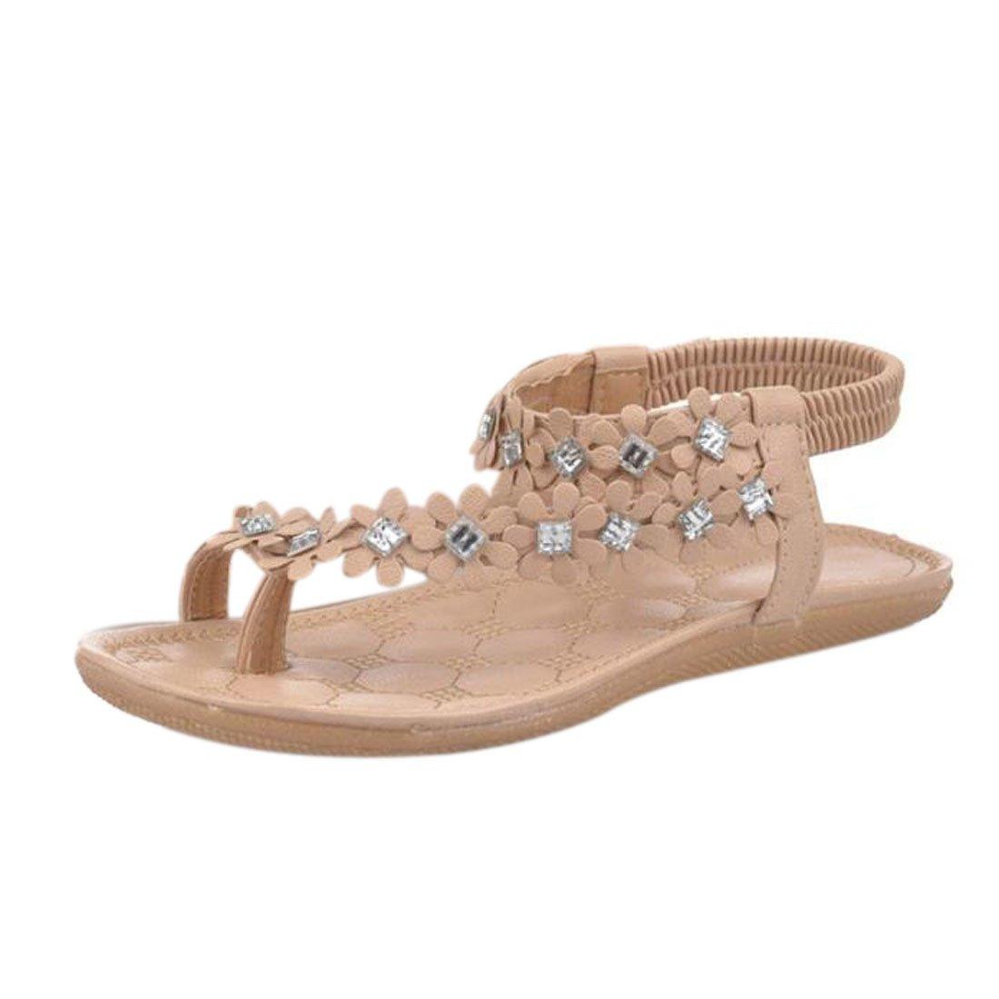 Damen Sommer Schuhe Xinan Bouml;hmen Blumen Flip Flop Sandalen  39|Khaki
